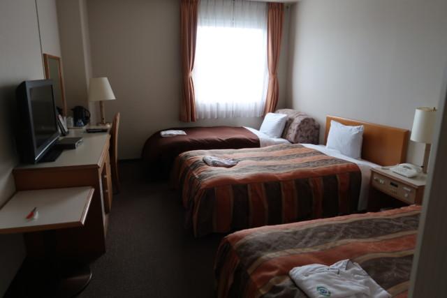 坂出グランドホテルの客室内の様子