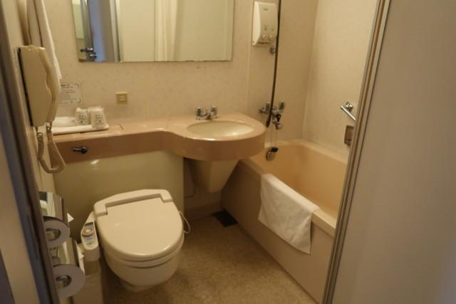 坂出グランドホテルのお風呂とトイレ