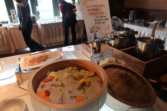 坂出グランドホテル,バイキングの蒸し野菜
