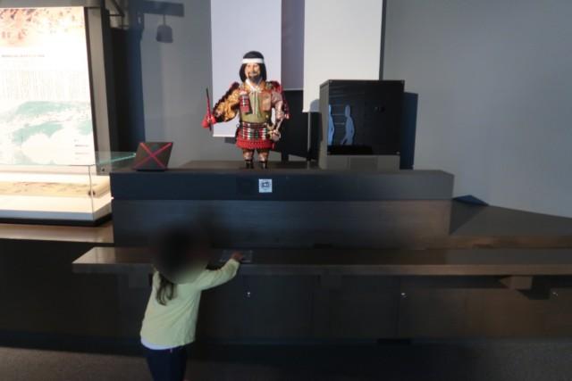 愛媛歴史博物館の常設展の様子