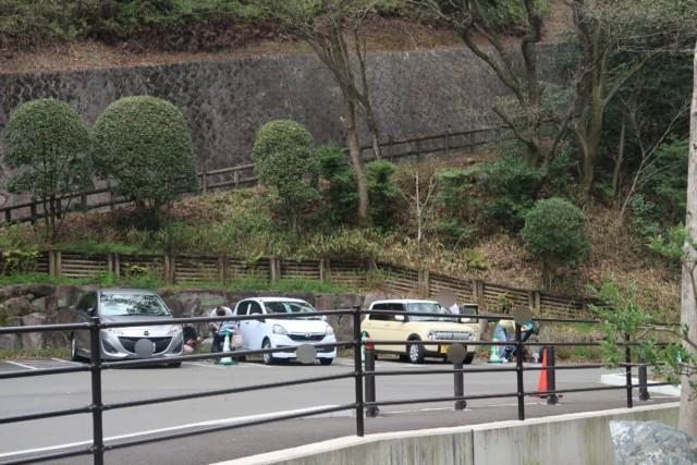 とべ動物園の身障者用駐車場
