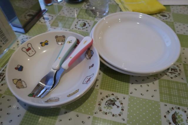 お好み焼きポプラ(松山)の子供用取り皿