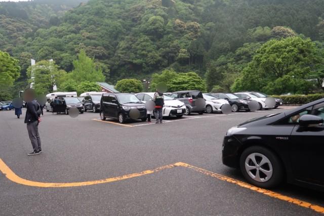 マイントピア別子の駐車場