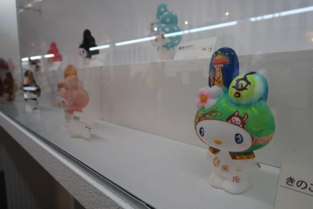 愛媛歴史博物館のマイメロの素焼き塗り絵