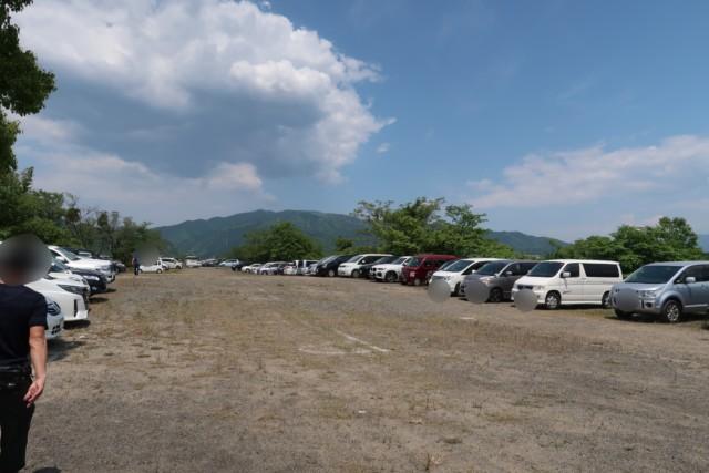 重信川樋口公園の駐車場