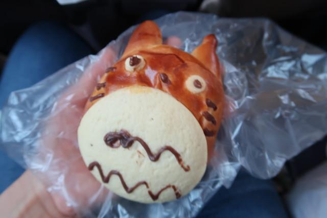 内田パンのキャラクターパン(トトロ)