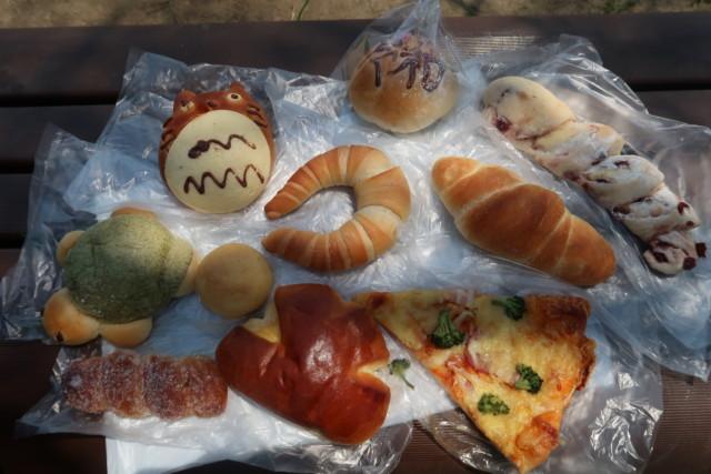 内田パンで購入したパン