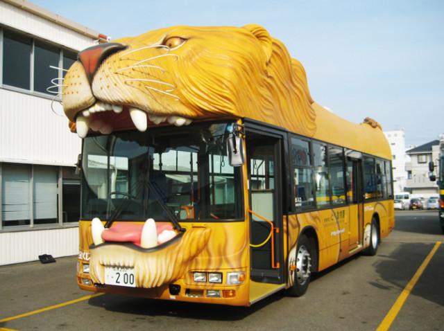 とべ動物園の東駐車場から出ているシャトルバス