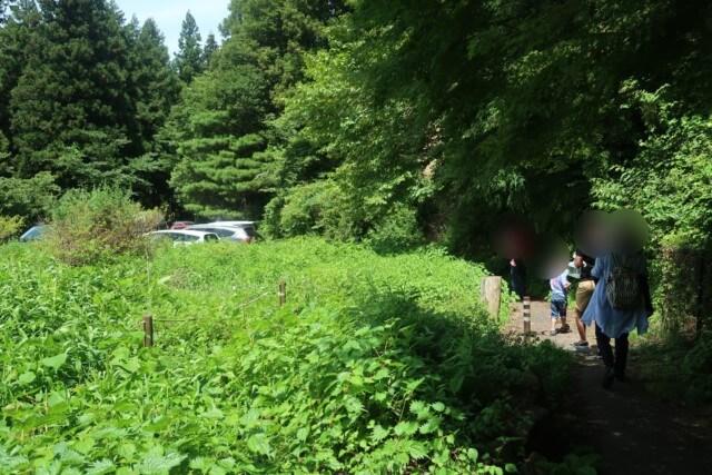上林水の元そうめん流し,第2駐車場への道