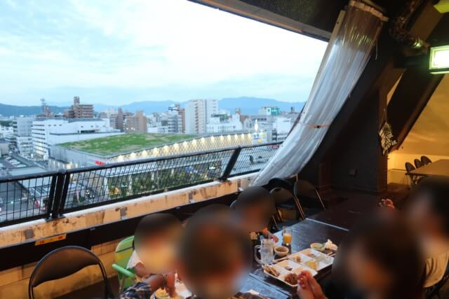 サンルート松山,ビアガーデン,景色