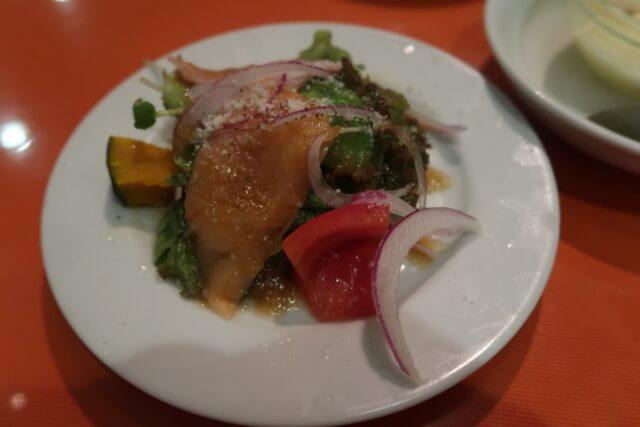 オルソー,松山,ランチのサラダ