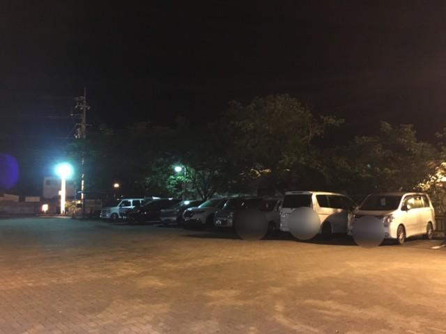 さくらの湯の駐車場