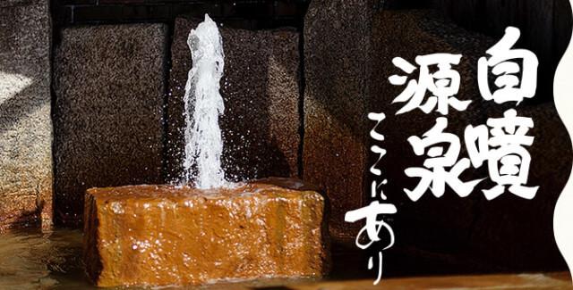 ていれぎの湯,松山,自噴する温泉