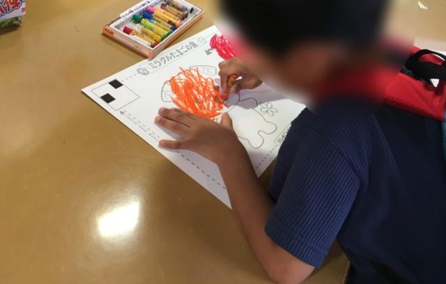 えひめこどもの城,ミラクルたまごの泉,絵を描く子供