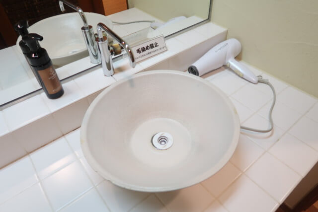 ひめひこ温泉,家族風呂,洗面台